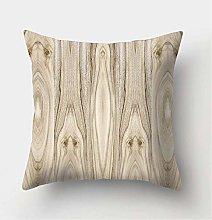 Wood Stone Pattern Decorative Cushions Pillowcase