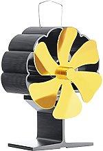 Wood Stove Fan, Black Fireplace Fan, 6 Blade