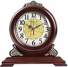 Wood Table Clock Mute Shelf Clocks Personalized
