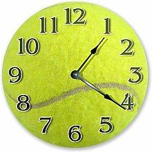 Wood Tennis Ball Clock, Lawn Tennis Lover Clock,