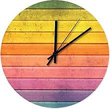Wood Texture Wall Clock Wooden Cool Kitchen Clock