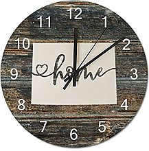 Wood Wall Clock Colorado With Home Americas Map