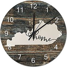 Wood Wall Clock Kentucky With Home Americas Map