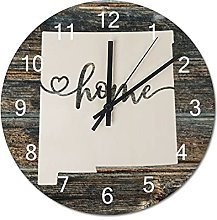 Wood Wall Clock New Mexico With Home Americas Map