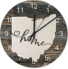 Wood Wall Clock Ohio With Home Americas Map