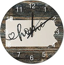 Wood Wall Clock Pennsylvania With Home Americas