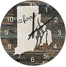 Wood Wall Clock Rhode Island With Home Americas