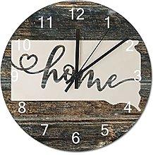 Wood Wall Clock South Dakota With Home Americas
