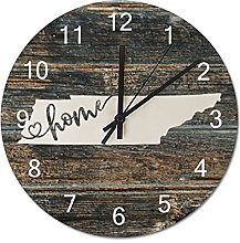 Wood Wall Clock Tennessee With Home Americas Map