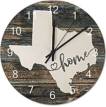 Wood Wall Clock Texas With Home Americas Map