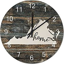 Wood Wall Clock Virginia With Home Americas Map