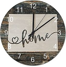 Wood Wall Clock Wyoming With Home Americas Map
