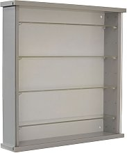 Wood Wall Display Cabinet with 4 Adjustable Glass