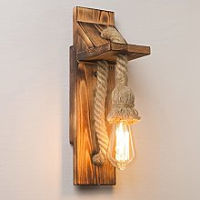 Wood Wall Lamp Indoor Decoration Vintage Wall