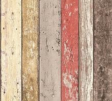 Wood wallpaper wall Profhome 895127-GU non-woven