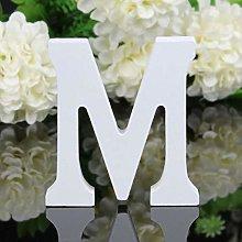 Wood Wooden Letters White Alphabet Wedding