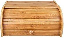 Woodabamboo Bamboo Bread Bin Vintage Rolltop Bread