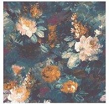 Woodchip & Magnolia Ava Marika Teal Wallpaper