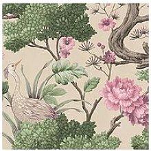 Woodchip & Magnolia Crane Bird Rose Pink Cream