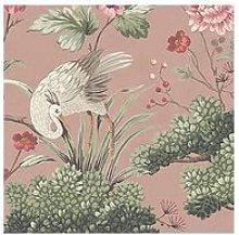 Woodchip & Magnolia Crane Bird Vintage Pink