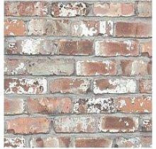 Woodchip & Magnolia Real Red Brick Wallpaper