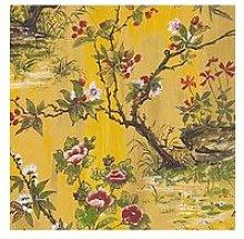 Woodchip & Magnolia Rivington Yellow Wallpaper
