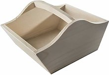 WooDeeDoo Plain Wooden Basket Carrier Trug 22 x 17