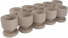 WooDeeDoo Set (10) Wooden Egg Cups | Medium 50 x