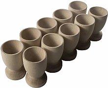 WooDeeDoo Set (12) Wooden Egg Cups Large 70 x 42