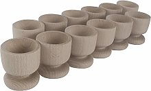 WooDeeDoo Set (12) Wooden Egg Cups | Medium 50 x