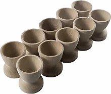 WooDeeDoo Set (12) Wooden Egg Cups Small 45 x 42