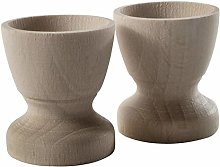 WooDeeDoo Set (2) Wooden Egg Cups Small 45 x 42 mm