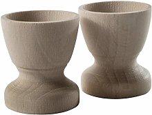 WooDeeDoo Set (2) Wooden Egg Cups Small 45 x 42 mm