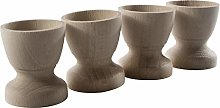 WooDeeDoo Set (4) Wooden Egg Cups Small 45 x 42 mm