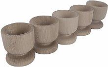 WooDeeDoo Set (5) Wooden Egg Cups | Medium 50 x 45