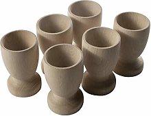 WooDeeDoo Set (6) Wooden Egg Cups Large 70 x 42 mm