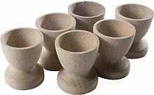 WooDeeDoo Set (6) Wooden Egg Cups Small 45 x 42 mm