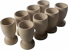 WooDeeDoo Set (8) Wooden Egg Cups Large 70 x 42 mm