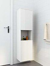 Wooden 2 Door Tall Bathroom Cabinet Wall Mounted