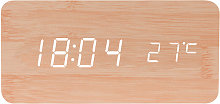 Wooden Alarm Clock with Charging Pad without