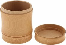 Wooden Bamboo Canister Jar Container Food Storage