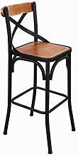 Wooden Bar Stools Bar stool American Wrought Iron