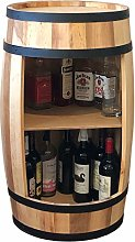 Wooden Barrel, Wine Cabinet 81cm, Barrel Wine