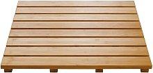 Wooden Bathroom Rug Grating Nature 52x52 cm -