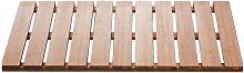 Wooden Bathroom Rug Grating Nature 72x38 cm -