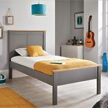 Wooden Bed Frame 4ft6 Double Vigo Grey and Oak