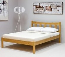 Wooden Bed Frame Only 4ft6 Double Poppy Antique