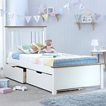 Wooden Bed Frame with 2 Underbed Storage Drawers