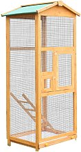 Wooden Bird Cage Birds Parrot Playing Zone Budgie