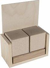 Wooden Blank Desk Perpetual Block Calendar | To